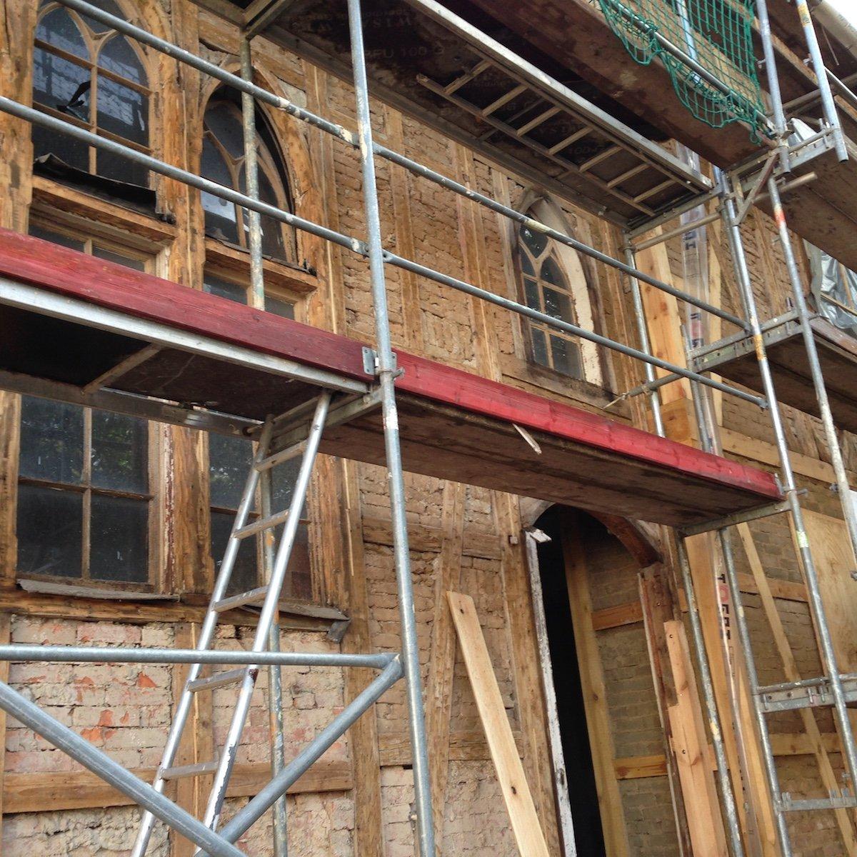 fassadensanierung wohnhaus schmalkalden - dach- und holzbau römhild gmbh